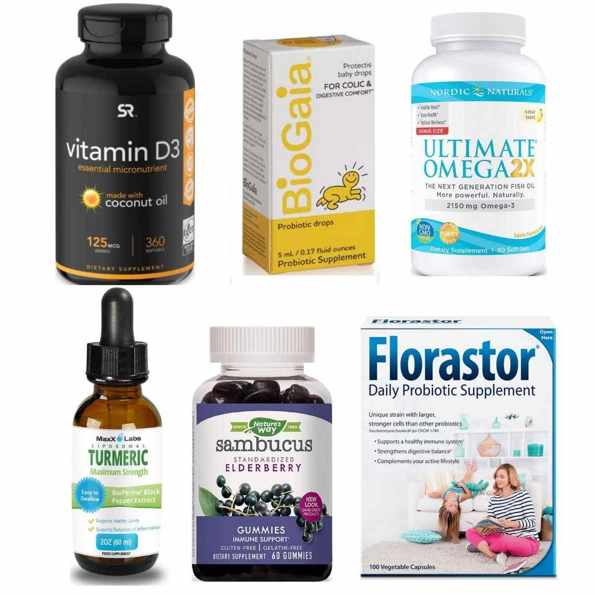 Enhancing Immunity Vitamin D Omega 3 Turmeric elderberry